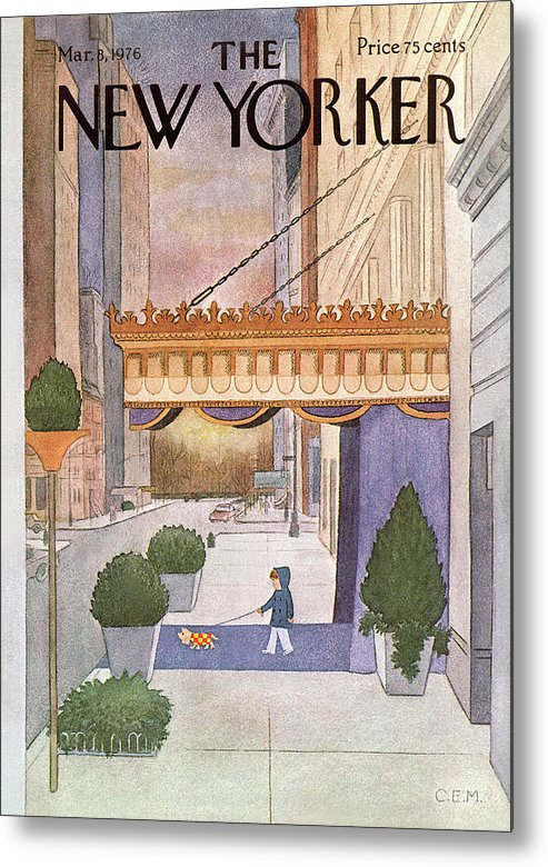 Upper East Side Metal Print featuring the painting New Yorker March 8th, 1976 by Charles E Martin