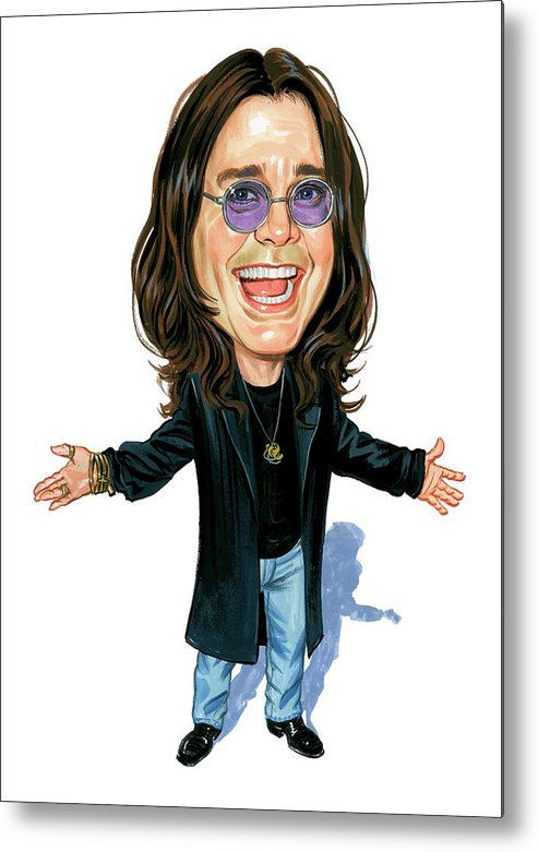 Ozzy Osbourne Metal Print featuring the painting Ozzy Osbourne by Art