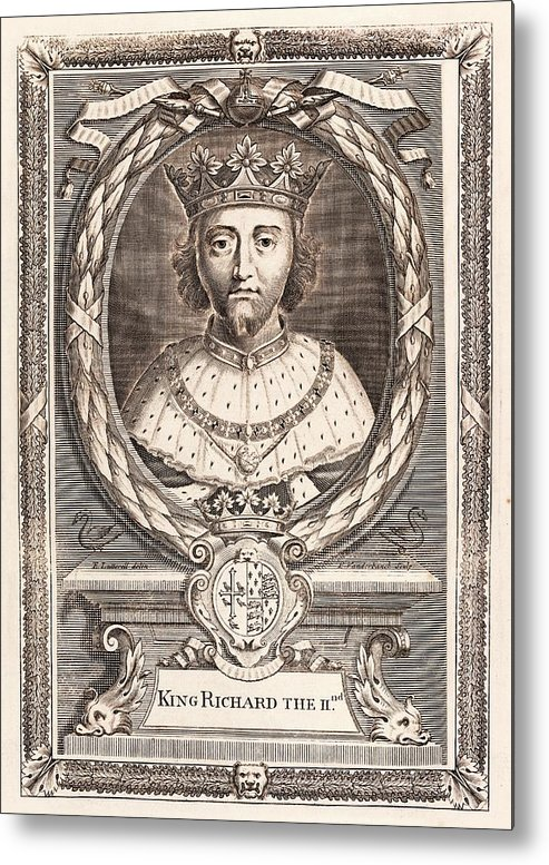 Richard Ii Metal Print featuring the photograph Richard II by Middle Temple Library