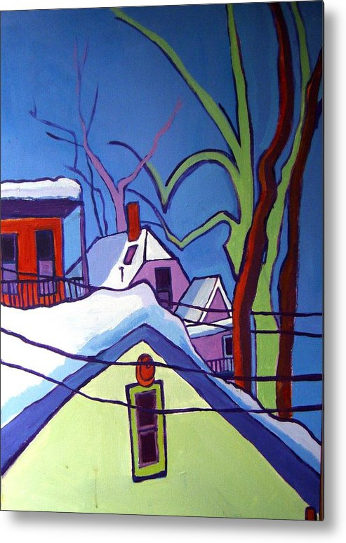 Buildings Metal Print featuring the painting Sheffield Winter by Debra Bretton Robinson