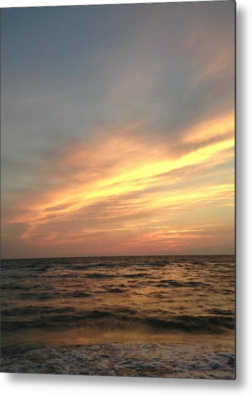 Sunset Metal Print featuring the photograph Slanted Setting by K Simmons Luna