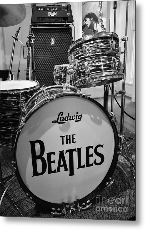 The Beatles Metal Print featuring the photograph The Beat Goes On by Mel Steinhauer