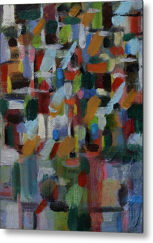 Abstract Paintings Metal Print featuring the painting The Raincoat by David Zimmerman