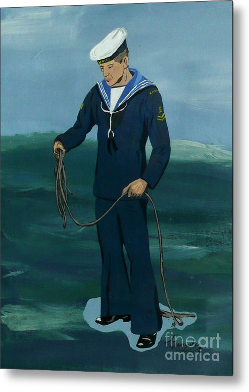 Sailor Metal Print featuring the painting The Sailor by Anthony Dunphy