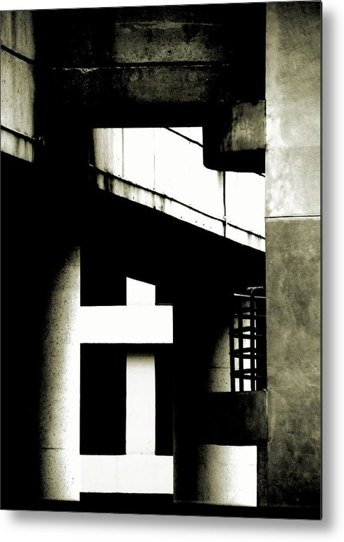 Abstract Metal Print featuring the photograph Urban Support by Clayton Odom