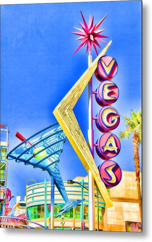 Las Vegas Metal Print featuring the photograph Vegas Street Art by Debby Richards