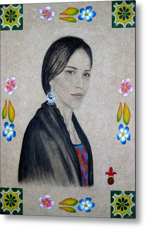 Flower Metal Print featuring the painting Xochitl by Lynet McDonald