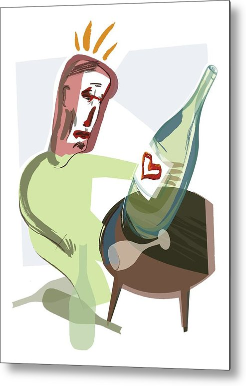 Disease Metal Print featuring the photograph Alcoholism, Conceptual Artwork by Paul Brown