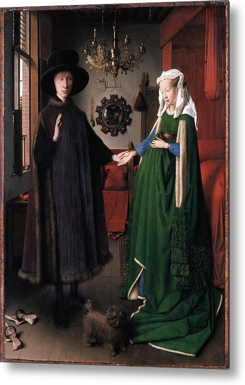 1434 Metal Print featuring the photograph Eyck: Arnolfini Marriage by Granger