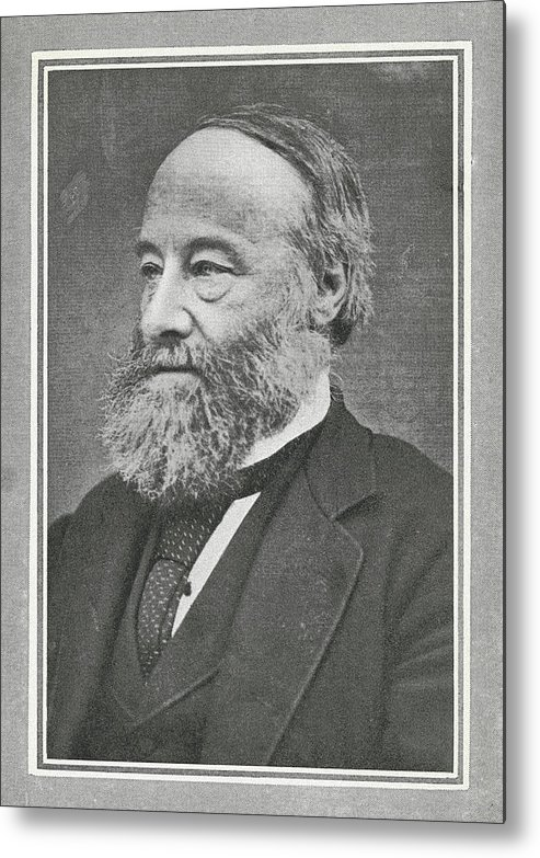 Joule Metal Print featuring the photograph James Prescott Joule, British Physicist by Science, Industry & Business Librarynew York Public Library