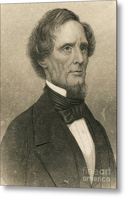 History Metal Print featuring the photograph Jefferson Davis, President by Photo Researchers