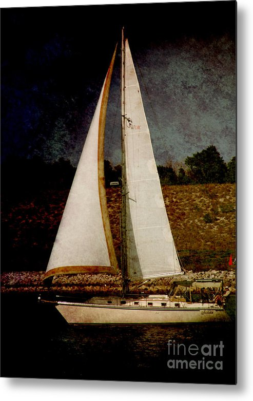 Boat Metal Print featuring the photograph La Paloma Blanca Boat by Susanne Van Hulst