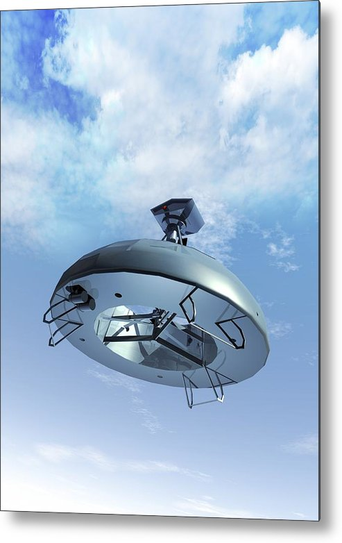 Vertical Metal Print featuring the digital art Military Drone, Conceptual Artwork by Victor Habbick Visions
