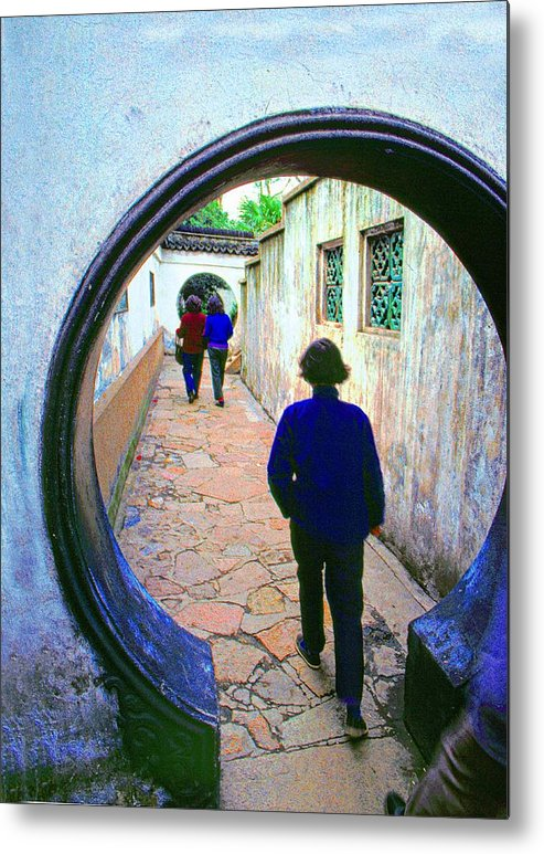 Yuemen Metal Print featuring the photograph Moon Gate - 4 by Larry Mulvehill