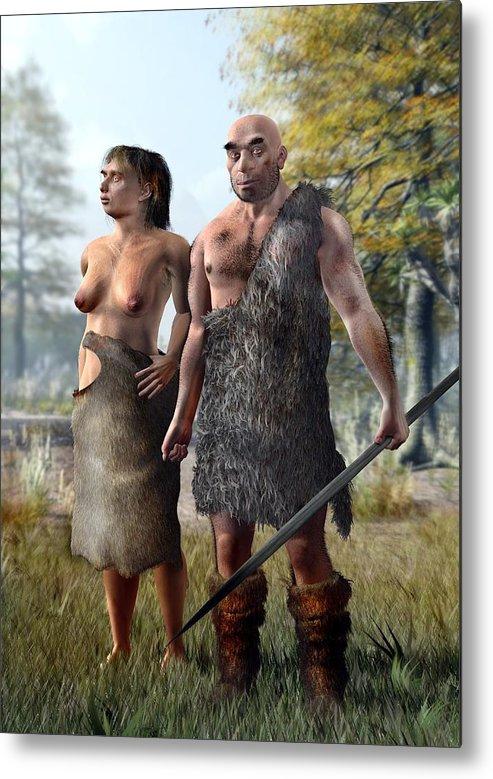 Adult Metal Print featuring the photograph Neanderthals, Artwork by Jose Antonio PeÑas