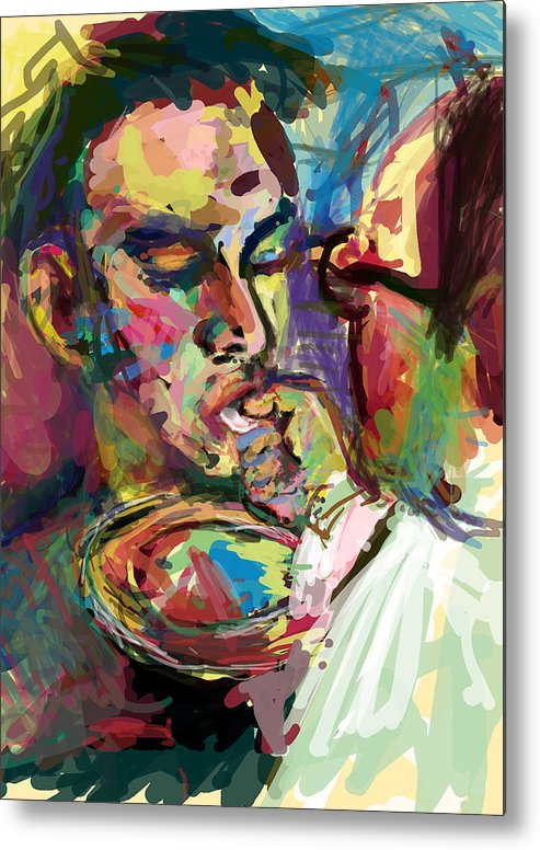 Seven Metal Print featuring the digital art Receive Host by James Thomas