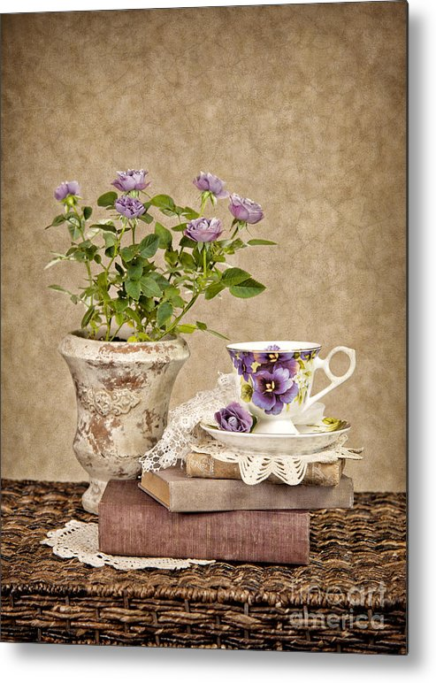 Teacup Metal Print featuring the photograph Simple Pleasures by Cheryl Davis