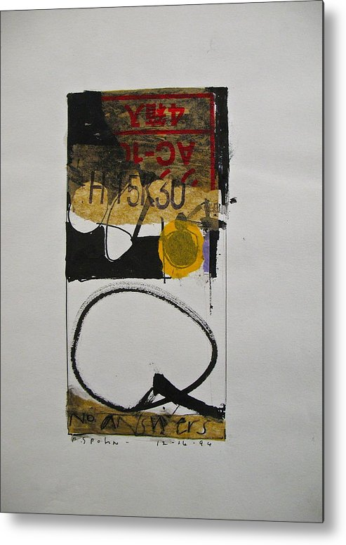 Abstract Paintings Metal Print featuring the drawing Sketchbook 1 Pg 30 by Cliff Spohn