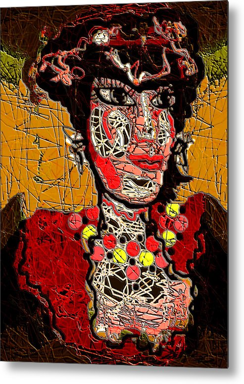 Splashy Lady Metal Print featuring the mixed media Splashy Lady by Natalie Holland