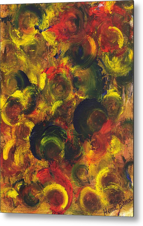Abstract Painting Metal Print featuring the painting Abstract Art by Hema Rana