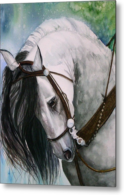 Andalusian Metal Print featuring the painting Renaldo by Gina Hall