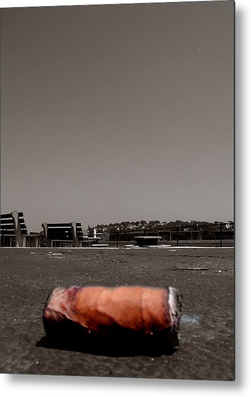 Suffolk Downs Metal Print featuring the photograph A Smoke Before The Race by Heather Weikel