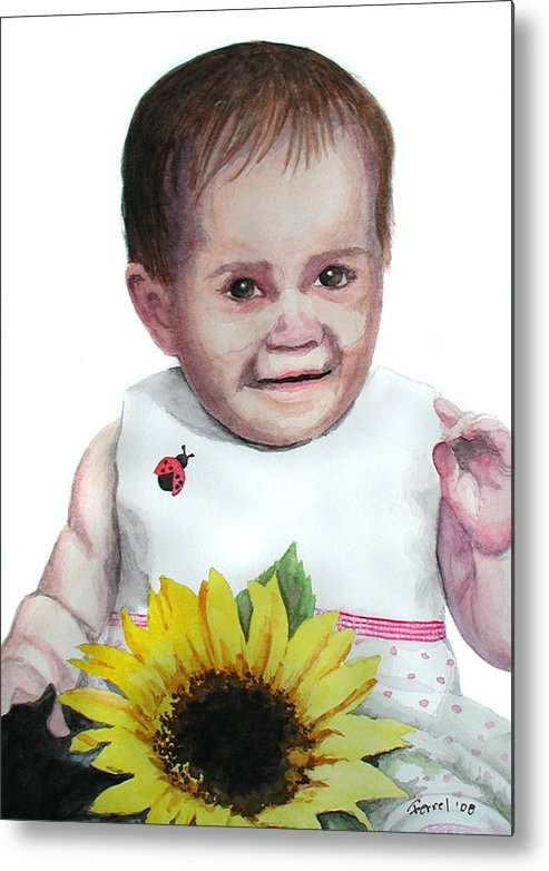Baby Metal Print featuring the painting Alaina by Ferrel Cordle