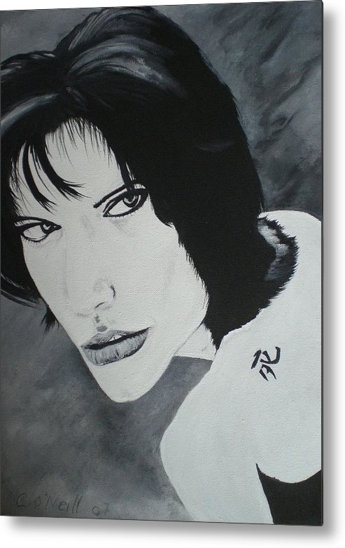 Angelina Metal Print featuring the painting Angelina by Colin O neill