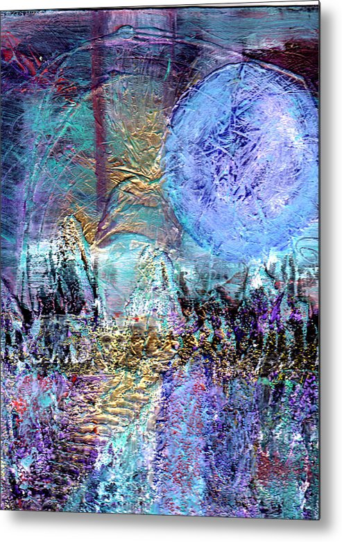 Surreal Metal Print featuring the painting Another World by Wayne Potrafka