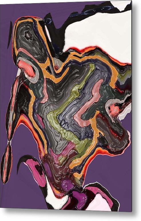 Abstract Metal Print featuring the digital art Art No. Five by LeeAnn Alexander