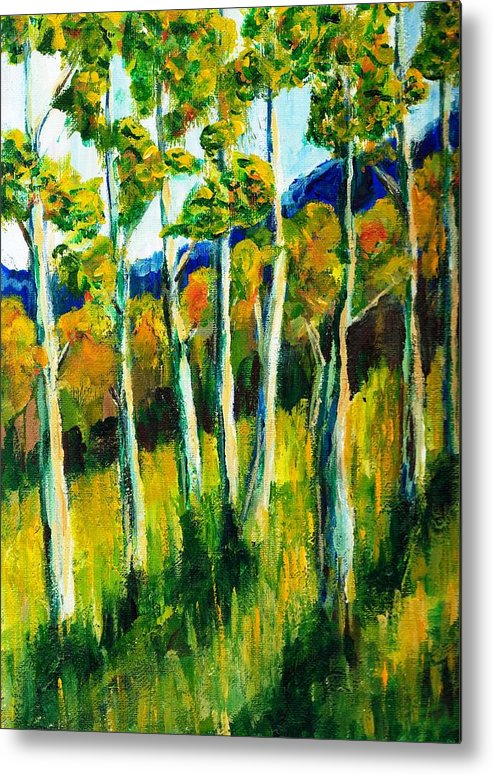 Aspen Metal Print featuring the painting Aspen Highlands by Randy Sprout