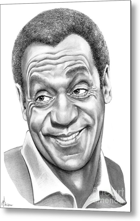Pencil Metal Print featuring the drawing Bill Cosby by Murphy Elliott
