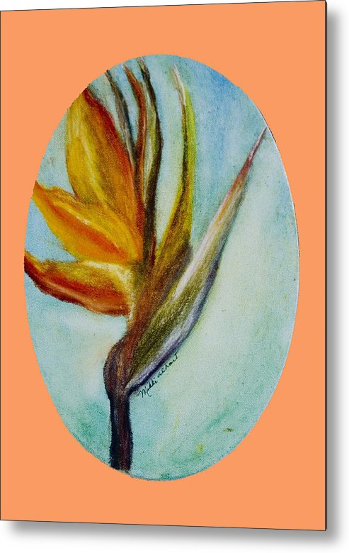 Bird Of Paridise Metal Print featuring the painting Bird Of Paridise by Mikki Alhart