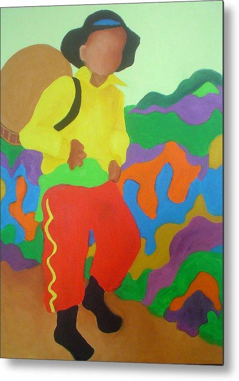 Brasil Metal Print featuring the painting Brasil Boy by Diana Ogaard