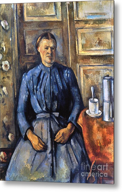 1895 Metal Print featuring the photograph Cezanne: Woman, 1890-95 by Granger