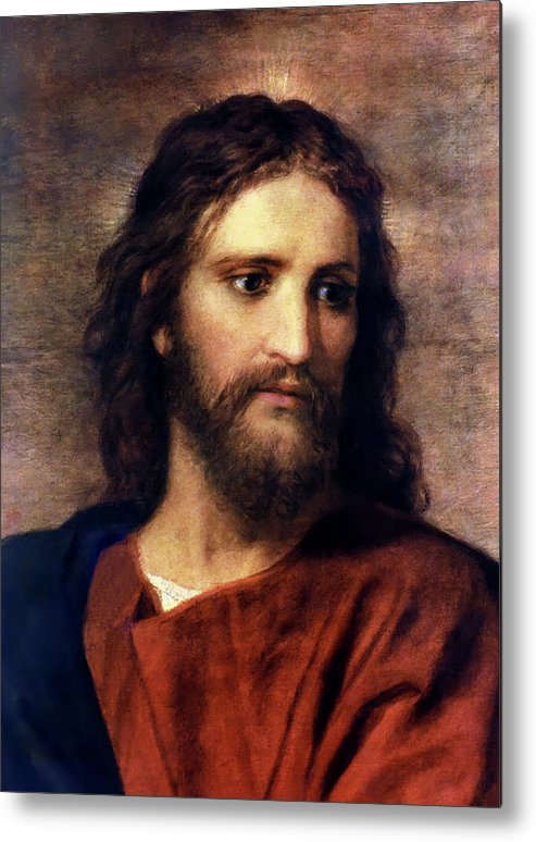 Jesus Prints Metal Print featuring the painting Christ At 33 by Heinrich Hofmann