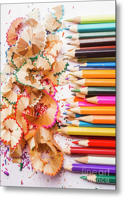 Pencil Metal Print featuring the photograph Colourful Leftovers by Jorgo Photography - Wall Art Gallery