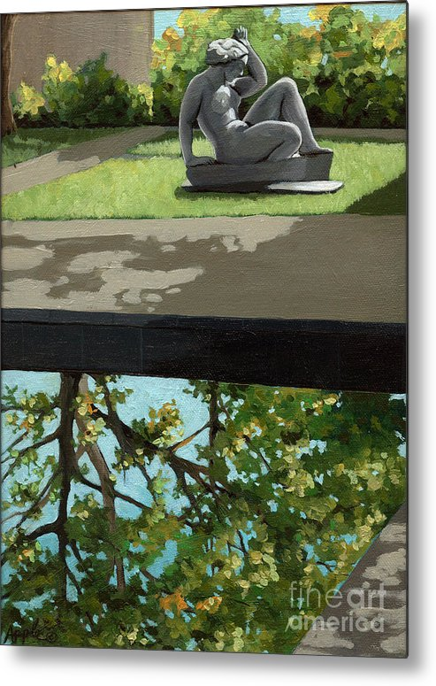 Landscape Painting Metal Print featuring the painting Contemplation by Linda Apple