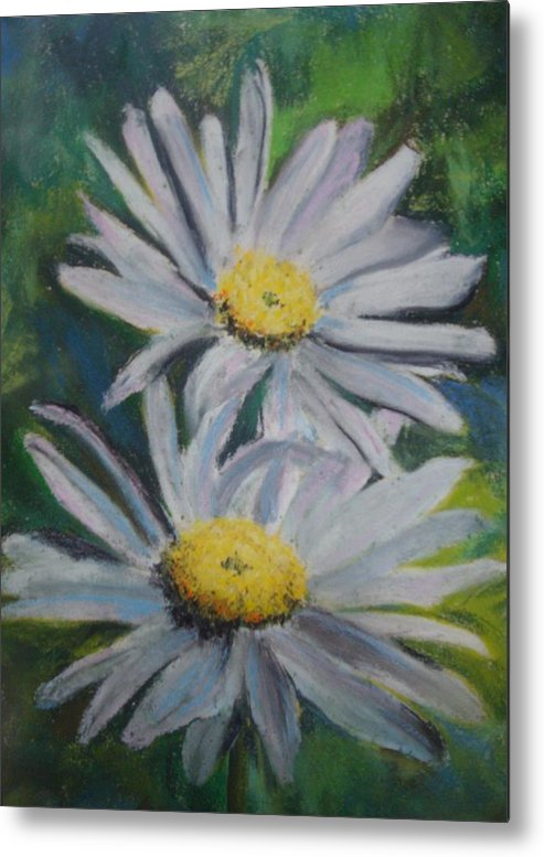 Daisies Metal Print featuring the painting Daisies by Melinda Etzold