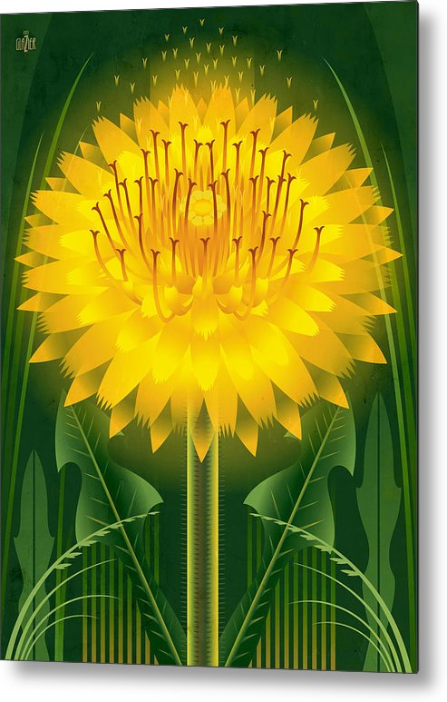 Dandelion Metal Print featuring the painting Dandelion Lion's Tooth Print by Garth Glazier