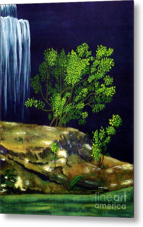 Fine Art Metal Print featuring the painting Dark Waters by Patricia Griffin Brett
