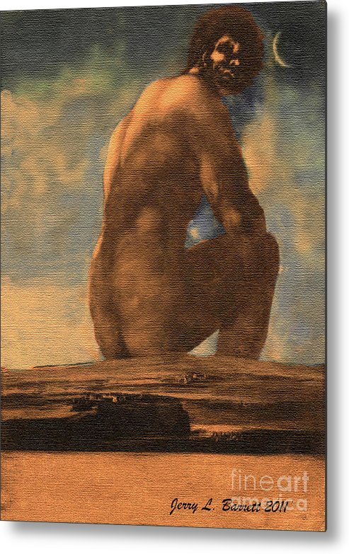 Early Metal Print featuring the mixed media Early Human by Jerry L Barrett