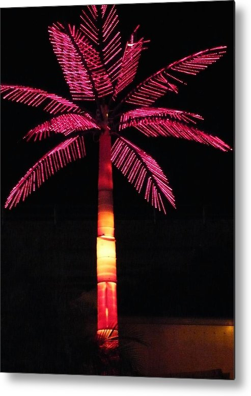 Abstract Metal Print featuring the photograph Electric Palm by Florene Welebny
