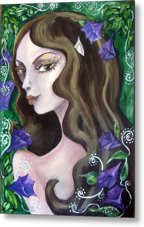 Elf Metal Print featuring the painting Elf...follow Me... by Jenni Walford