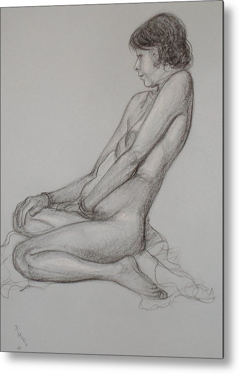 Realism Metal Print featuring the drawing English Model by Donelli DiMaria