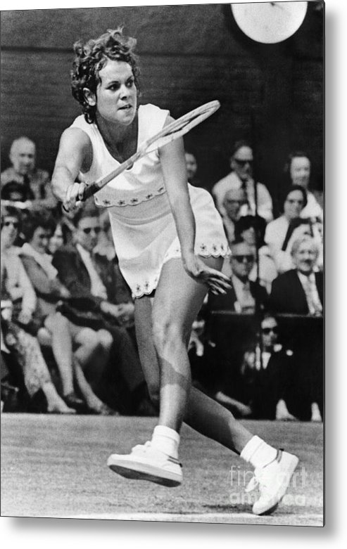 1972 Metal Print featuring the photograph Evonne Goolagong (1951- ) by Granger