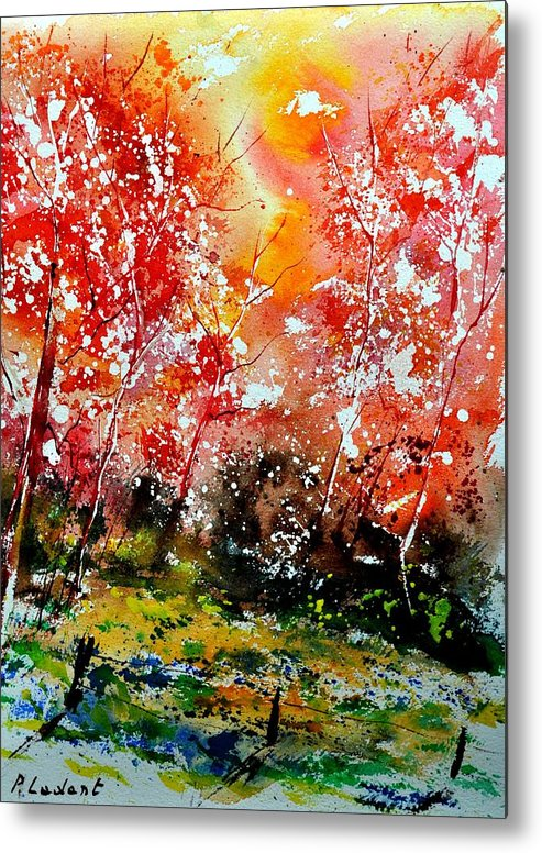 Nature Metal Print featuring the painting Exploding Nature by Pol Ledent