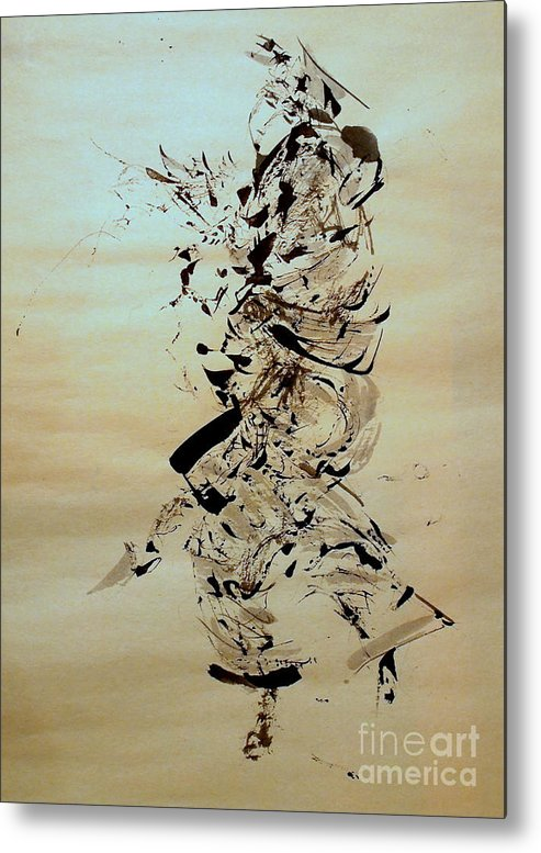Abstract Figure Metal Print featuring the painting Figure And Costume by Nancy Kane Chapman