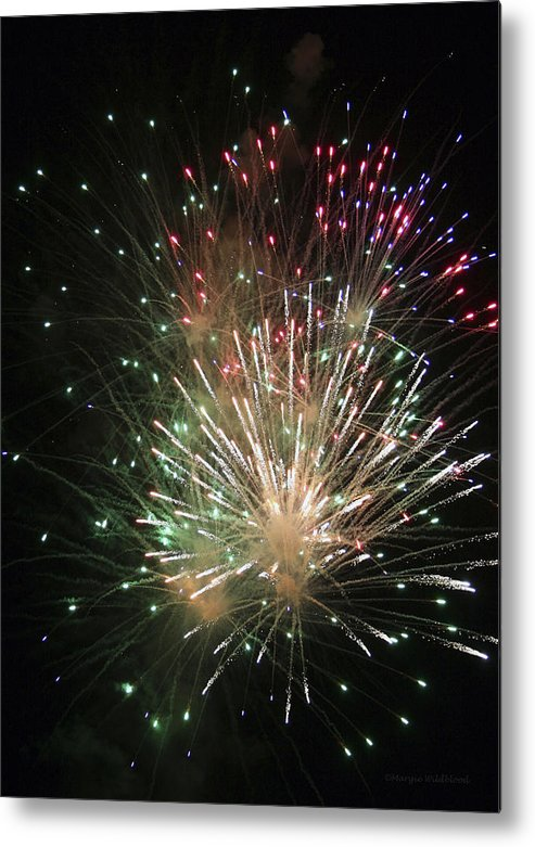 Fireworks Metal Print featuring the photograph Fireworks by Margie Wildblood