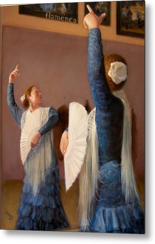 Realism Metal Print featuring the painting Flamenco 6 by Donelli DiMaria